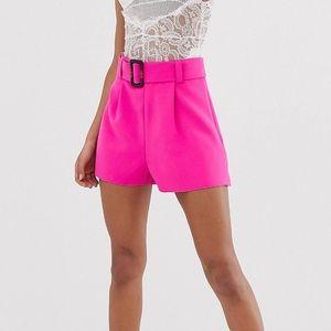 ASOS Belted POP Pink shorts